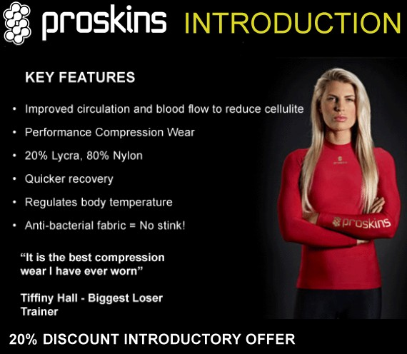 Try Proskins compression wear